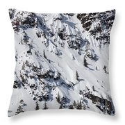 Squaw Valley Tram Hill  Throw Pillow
