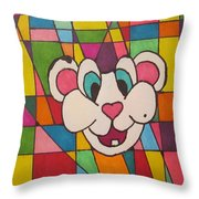 Squeakers N His Design Throw Pillow