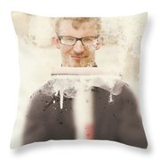 Squeaky Clean Window Washer Throw Pillow