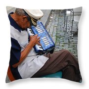 Squeeze Box Throw Pillow
