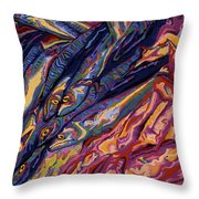 Squid And Mackeral Throw Pillow