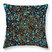 Squiggle 6 Throw Pillow