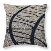 Squiggle Shadow Throw Pillow