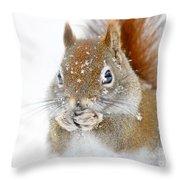 Squirel Portrait Throw Pillow