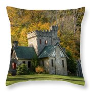 Squires Castle Throw Pillow