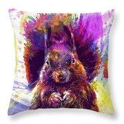 Squirrel Animals Possierlich Nager  Throw Pillow