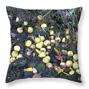Squirrel Cache In Compost Pile Throw Pillow