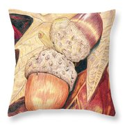 Squirrel Food Throw Pillow