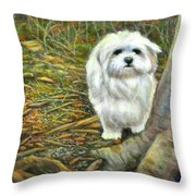 Squirrel In Its Mind Throw Pillow