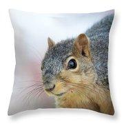 Squirrel Portrait Throw Pillow