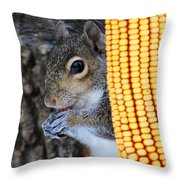 Squirrel Portrait Throw Pillow
