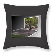 Squirrel World Throw Pillow