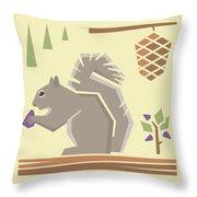 Squirrel1 Throw Pillow by Mitch Frey
