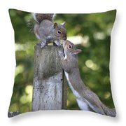 Squirrelly Affection Throw Pillow