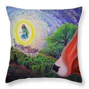 Sri Barsana Vali Throw Pillow