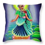 Sri Gahavarvan Vali Throw Pillow