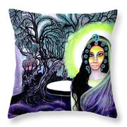 Sri Maan Nagari Throw Pillow