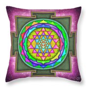 Sri Yantra - Artwork 7.5 Throw Pillow