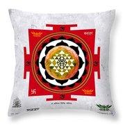 Sri Yantra Magic Throw Pillow