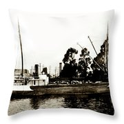 Steam Schooner Helene At San Padero Throw Pillow