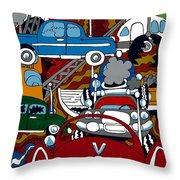 Ss Studebaker Throw Pillow by Rojax Art