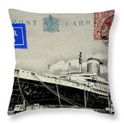 Ss United States - Post Card Throw Pillow