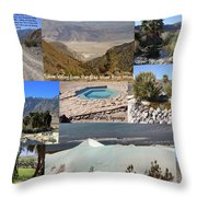 Saline Valley Collage Throw Pillow