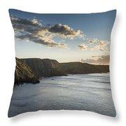 St Abbs Sunset Throw Pillow