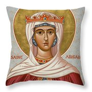 St. Abigail - Jcabi Throw Pillow