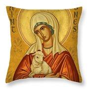 St. Agnes - Jcagn Throw Pillow