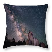 St. Aloysius Church Ruin Under The Stars Throw Pillow