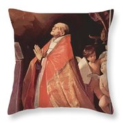 St Andrew Corsini In Prayer 1635 Throw Pillow