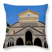 St Andrews Cathedral In Amalfi Throw Pillow