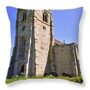 St Andrew's Church At Cubley In Derbyshire Throw Pillow