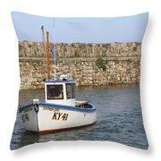 St Andrews Harbour Throw Pillow