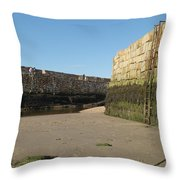 St Andrews Pier At Low Tide Throw Pillow