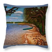 St Andrews State Park Panama City Florida Throw Pillow