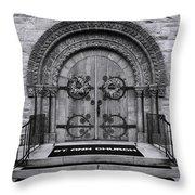 St Ann Church - Bw Throw Pillow