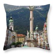 St. Anne's Column Throw Pillow