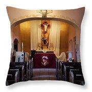 St. Ann's Church Of Tubac Arizona Throw Pillow