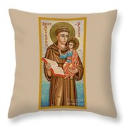 St. Anthony Of Padua - Jcapa Throw Pillow
