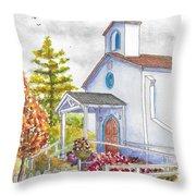 St. Anthony's Catholic Church, Mendocino, California Throw Pillow