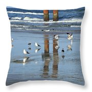 St. Augustine Beach Throw Pillow