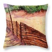 St. Augustine Beach Throw Pillow