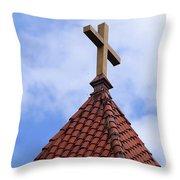 St. Augustine Cross 2 090118 Throw Pillow