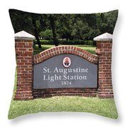 St. Augustine Florida Lighthouse Throw Pillow