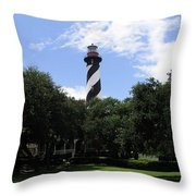 St. Augustine Light In Florida Throw Pillow