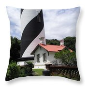 St. Augustine Light On The East Coast Of Florida Throw Pillow