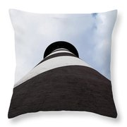 St. Augustine Lighthouse - From The Bottom Up Throw Pillow