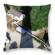 St. Augustine Lighthouse Shadow Throw Pillow